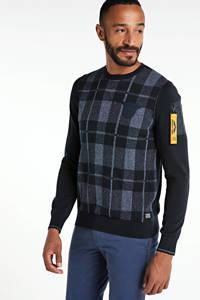 PME Legend geruite trui zwart/grijs, Zwart/grijs