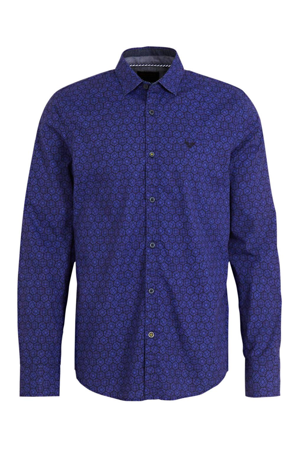 PME Legend regular fit overhemd met all over print paars, Paars