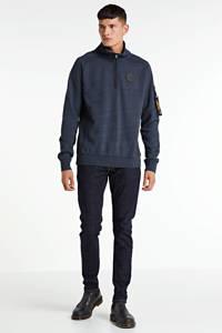 PME Legend gemêleerde sweater blauw, Blauw