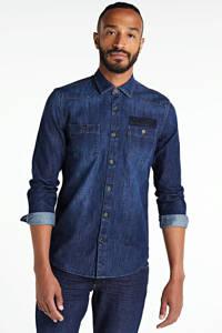 PME Legend slim fit denim overhemd dark denim, Dark denim