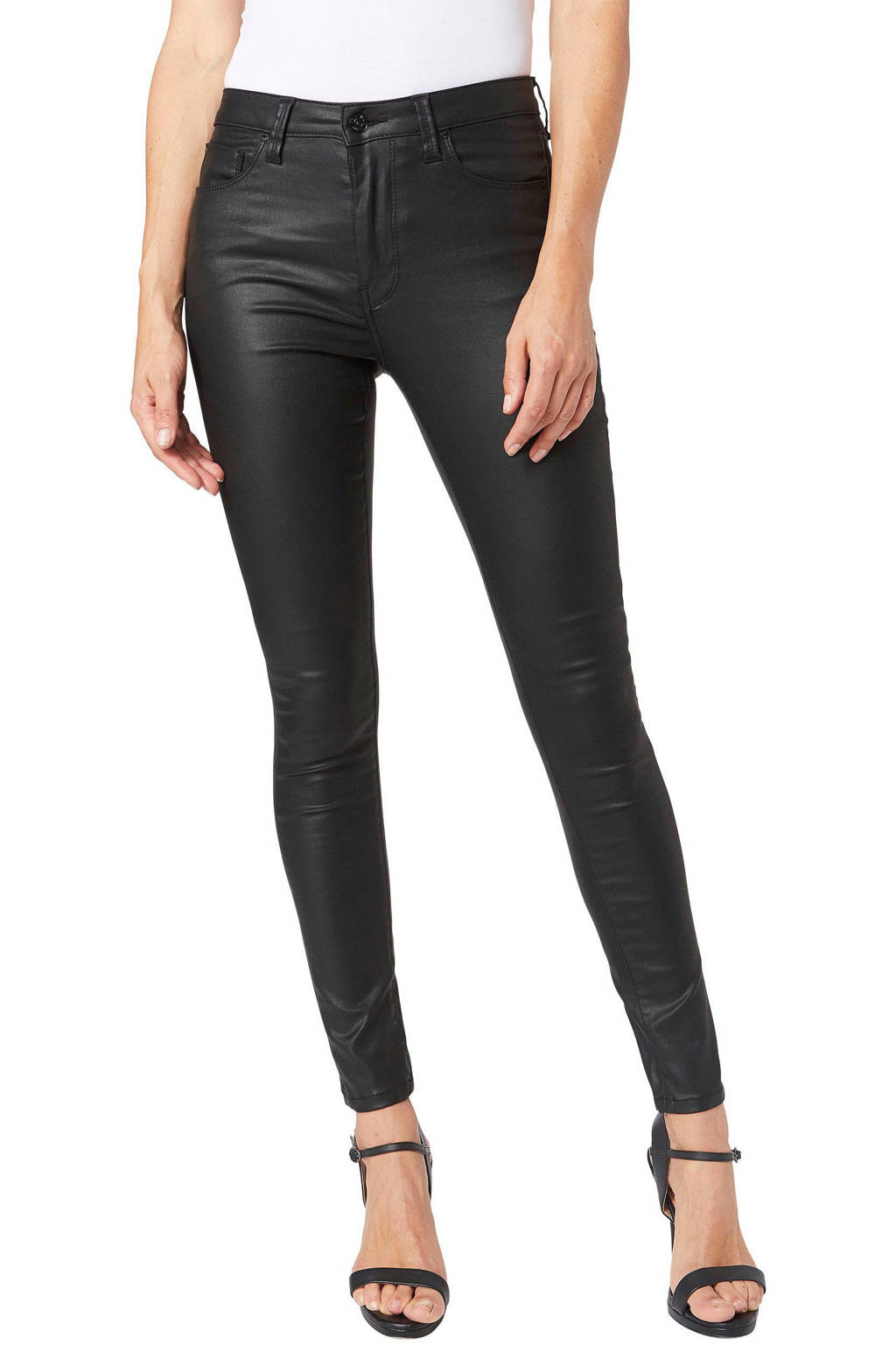 Pepe Jeans coated high waist skinny jeans REGENT denim000, DENIM000