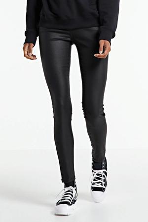 coated skinny broek Regent zwart