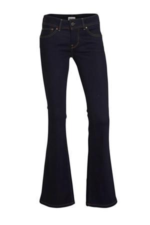 low waist flared jeans New Pimlico donkerblauw