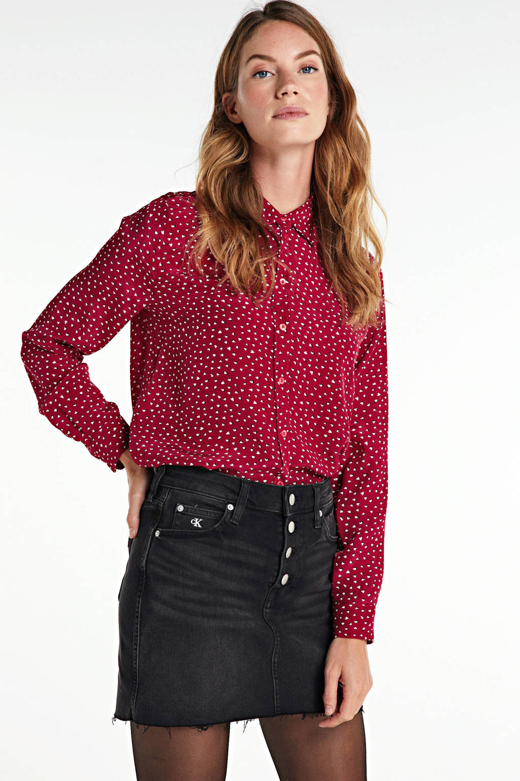 Pepe Jeans blouse Rita met all over print rood, Rood