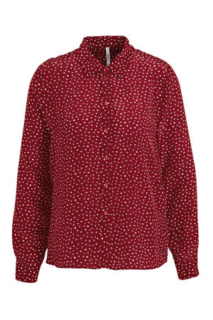 blouse Rita met all over print rood