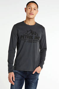 Petrol Industries longsleeve met logo donkergrijs, Donkergrijs