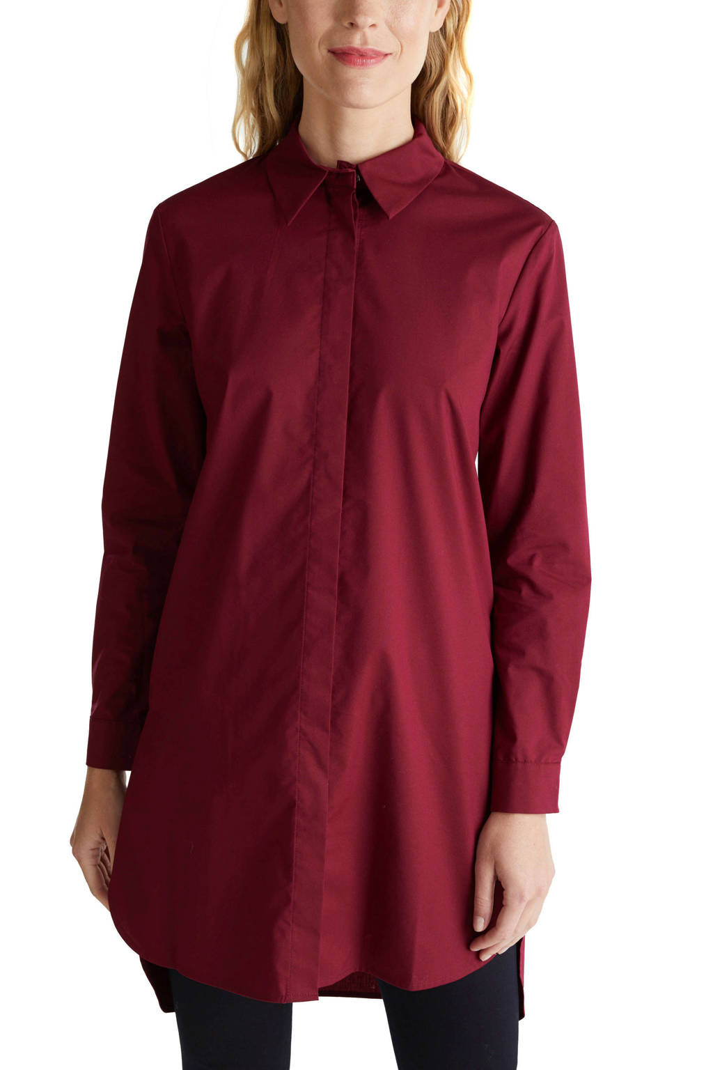 ESPRIT Women Collection blouse donkerrood, Donkerrood