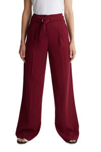 ESPRIT Women Collection high waist loose fit broek donkerrood, Donkerrood
