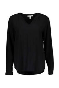 ESPRIT Women Casual top zwart, Zwart