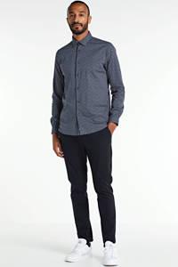 Dstrezzed regular fit overhemd met all over print grijsblauw, Grijsblauw