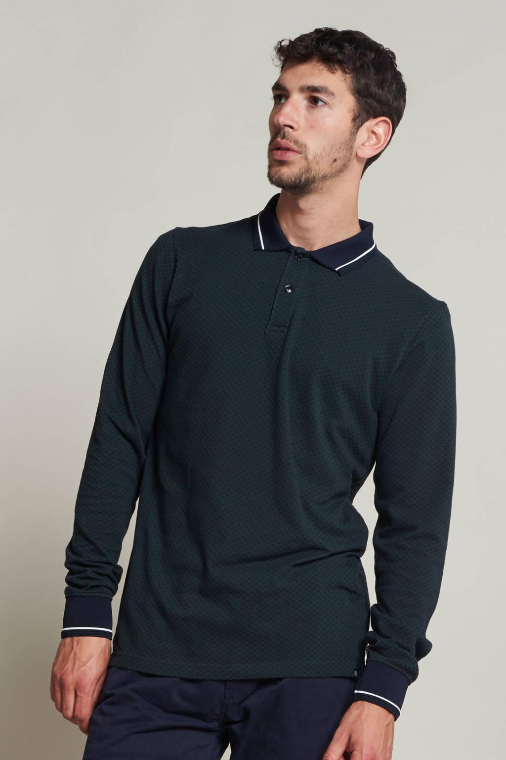 Dstrezzed regular fit polo zwart/wit, Zwart/wit