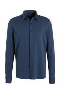 Dstrezzed regular fit overhemd met textuur marine, Marine