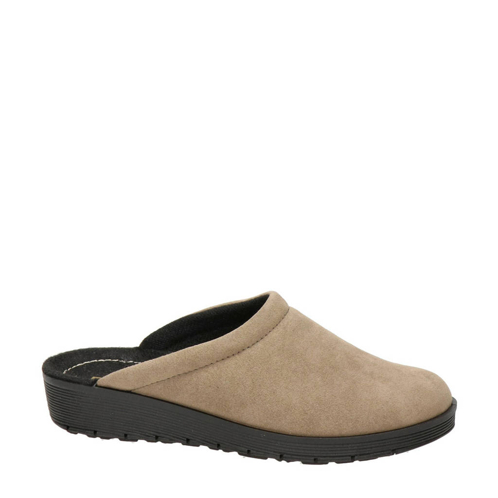 Rohde pantoffels taupe, Taupe