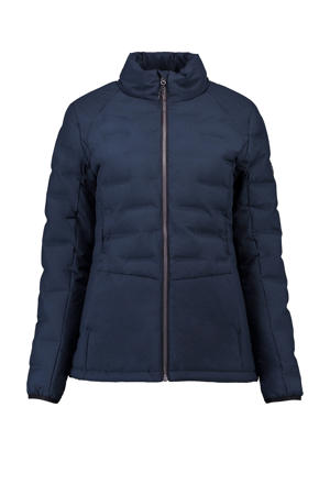 gewatteerde jas Sitaa donkerblauw