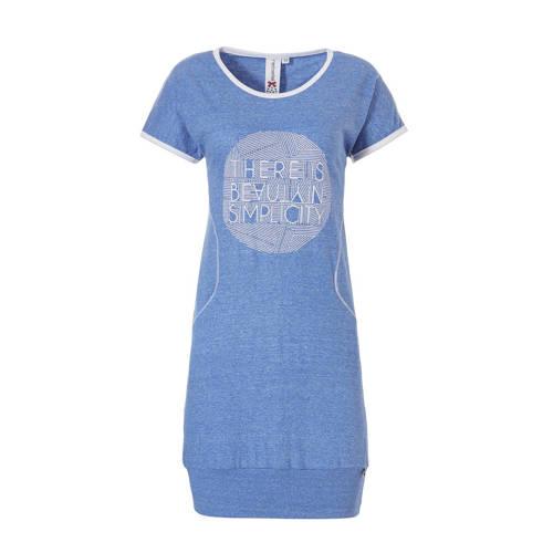 Rebelle nachthemd met printopdruk blauw