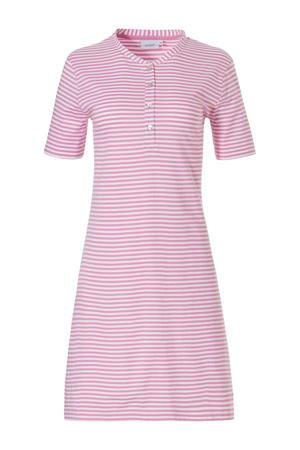 gestreept nachthemd roze/wit