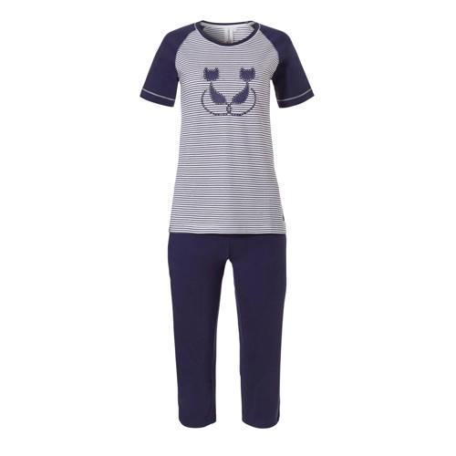 Rebelle pyjama met all over print blauw