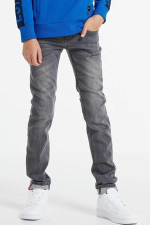 skinny fit jeans Bas dark grey denim