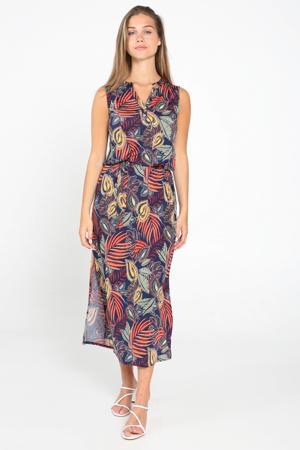 gebloemde maxi jurk multi
