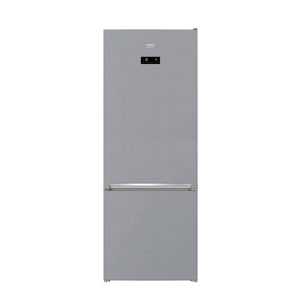 Beko RCNE560E40ZXBN koel/vries combinatie, Zilver