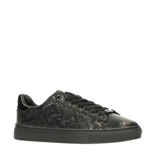 Crista  sneakers met slangenprint zwart