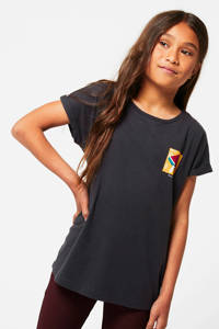America Today Junior T-shirt Elle met printopdruk zwart/geel/rood, Zwart/geel/rood