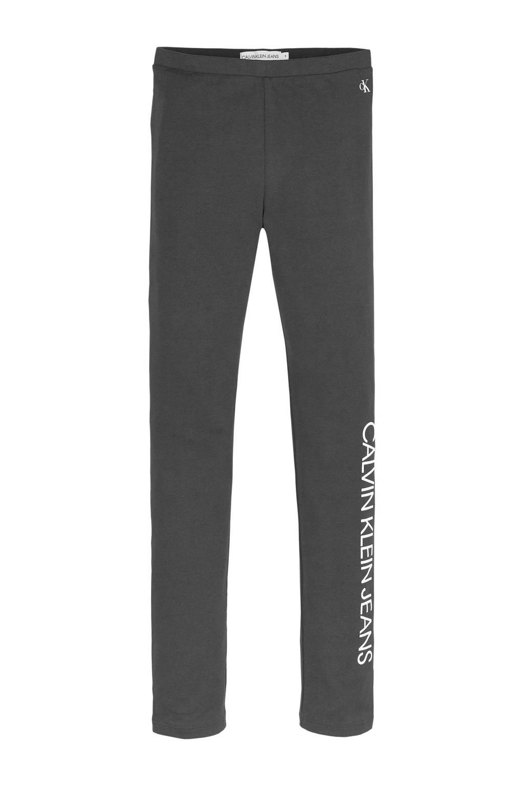 CALVIN KLEIN JEANS legging met biologisch katoen zwart/wit, Zwart/wit