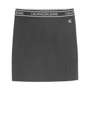 rok met logo en borduursels zwart/wit