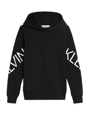 hoodie met logo zwart/wit