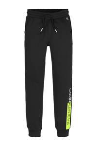 CALVIN KLEIN JEANS joggingbroek van biologisch katoen zwart/geel, Zwart/geel