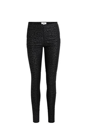 legging met panterprint zwart
