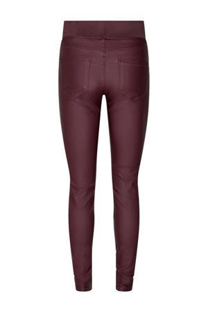 coated high waist skinny tregging bordeaux