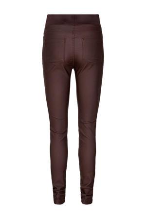 coated high waist skinny tregging bruin