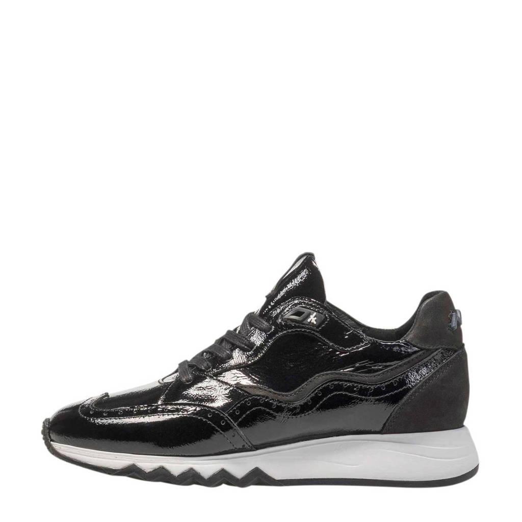 Floris van Bommel NINETI 85287 lakleren sneakers zwart, Zwart