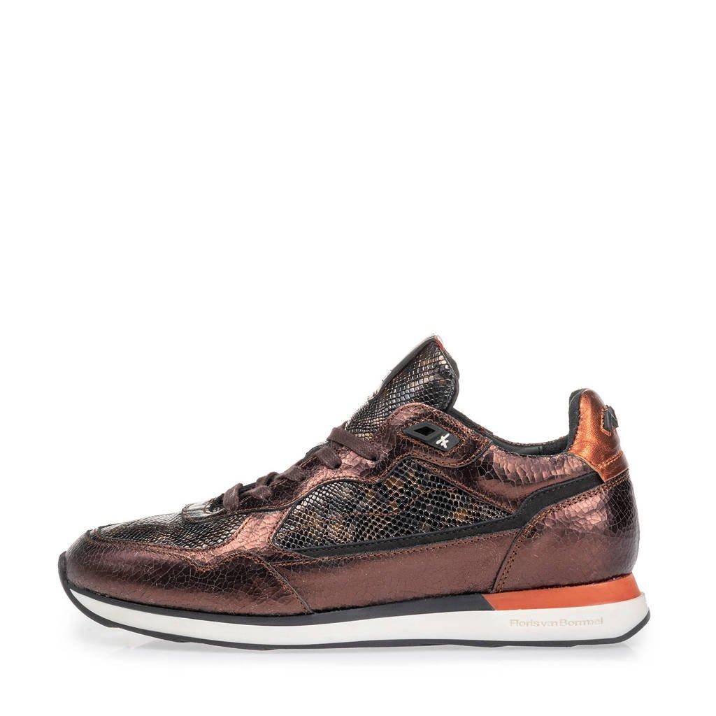 Floris van Bommel Figgi  leren sneakers koper/bruin, Koper/bruin