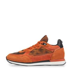 Figgi  suède sneakers oranje/roest