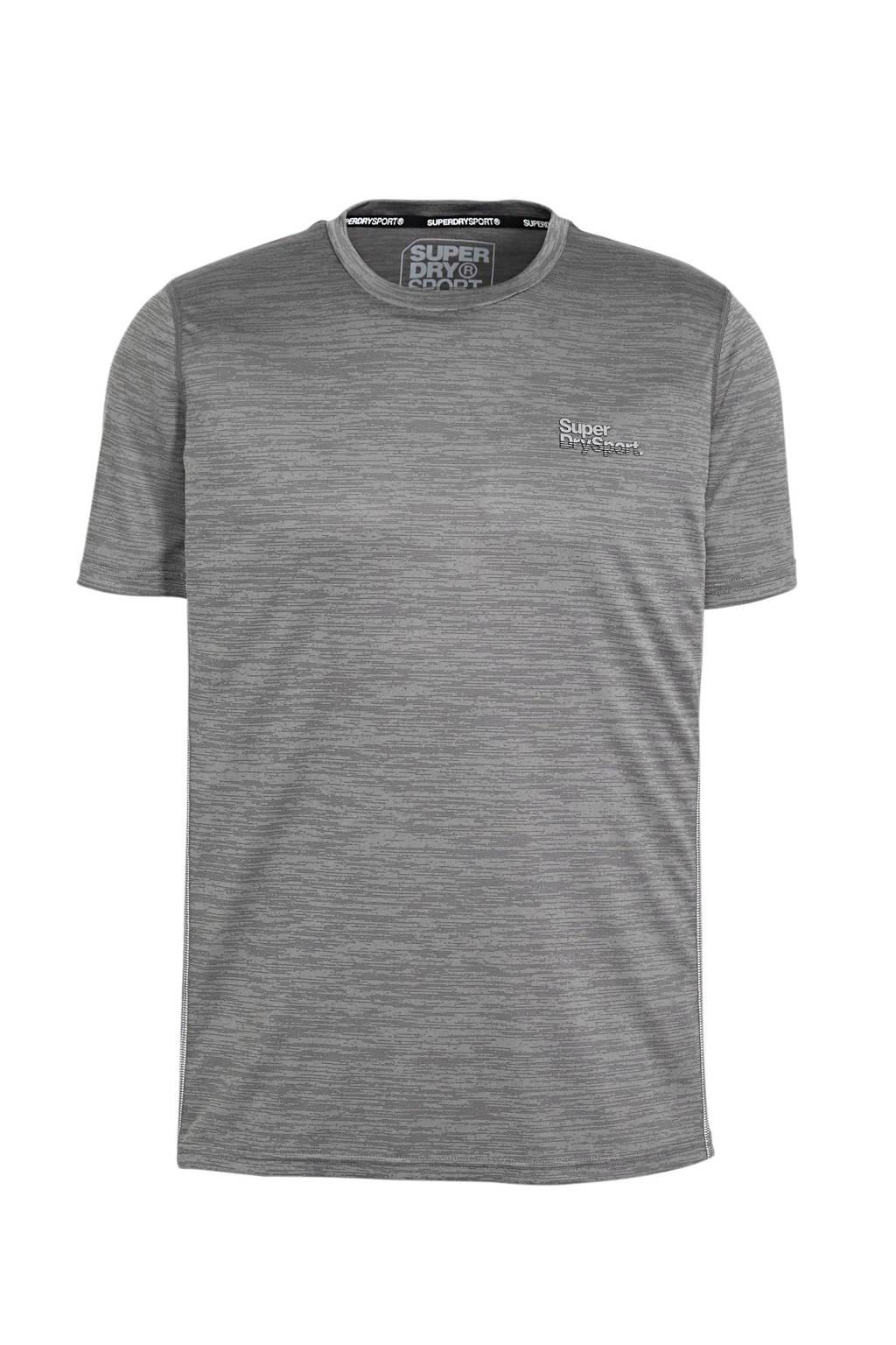 Superdry Sport   sport T-shirt grijs, Grijs
