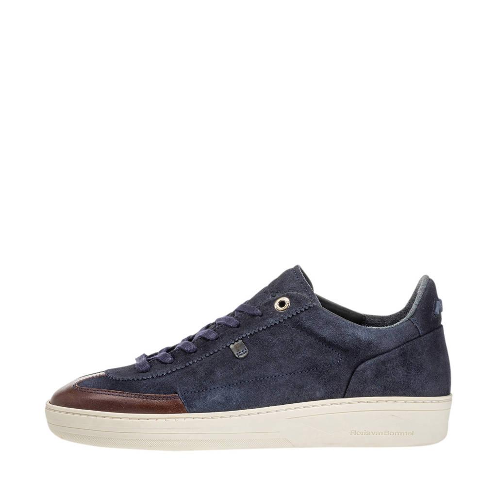 Floris van Bommel   suède sneakers blauw, Blauw/bruin