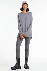 FREEQUENT geruite high waist skinny tregging Shantal grijs/rood/zwart, Bruin