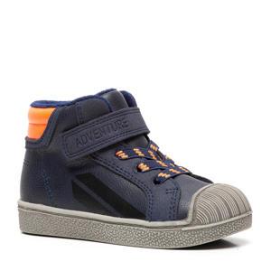 hoge sneakers blauw/oranje