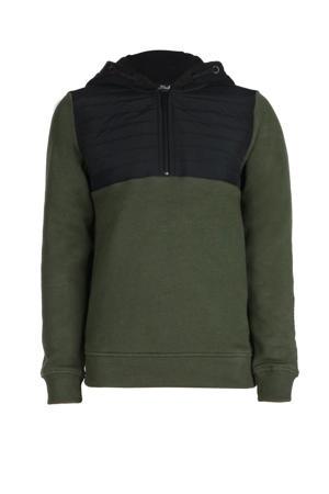 hoodie Saul donkergroen/zwart