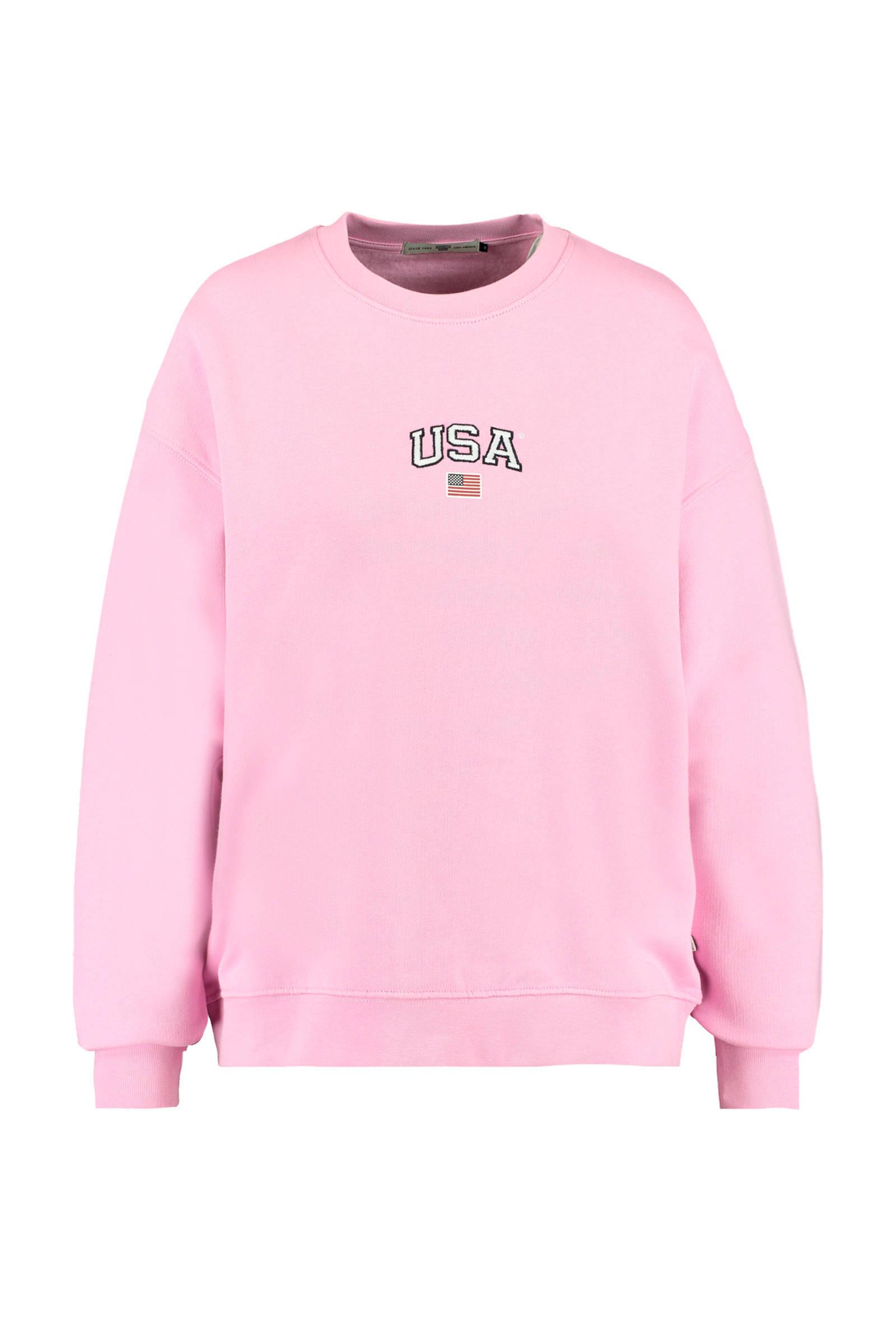 America Today sweater lichtgroen | wehkamp
