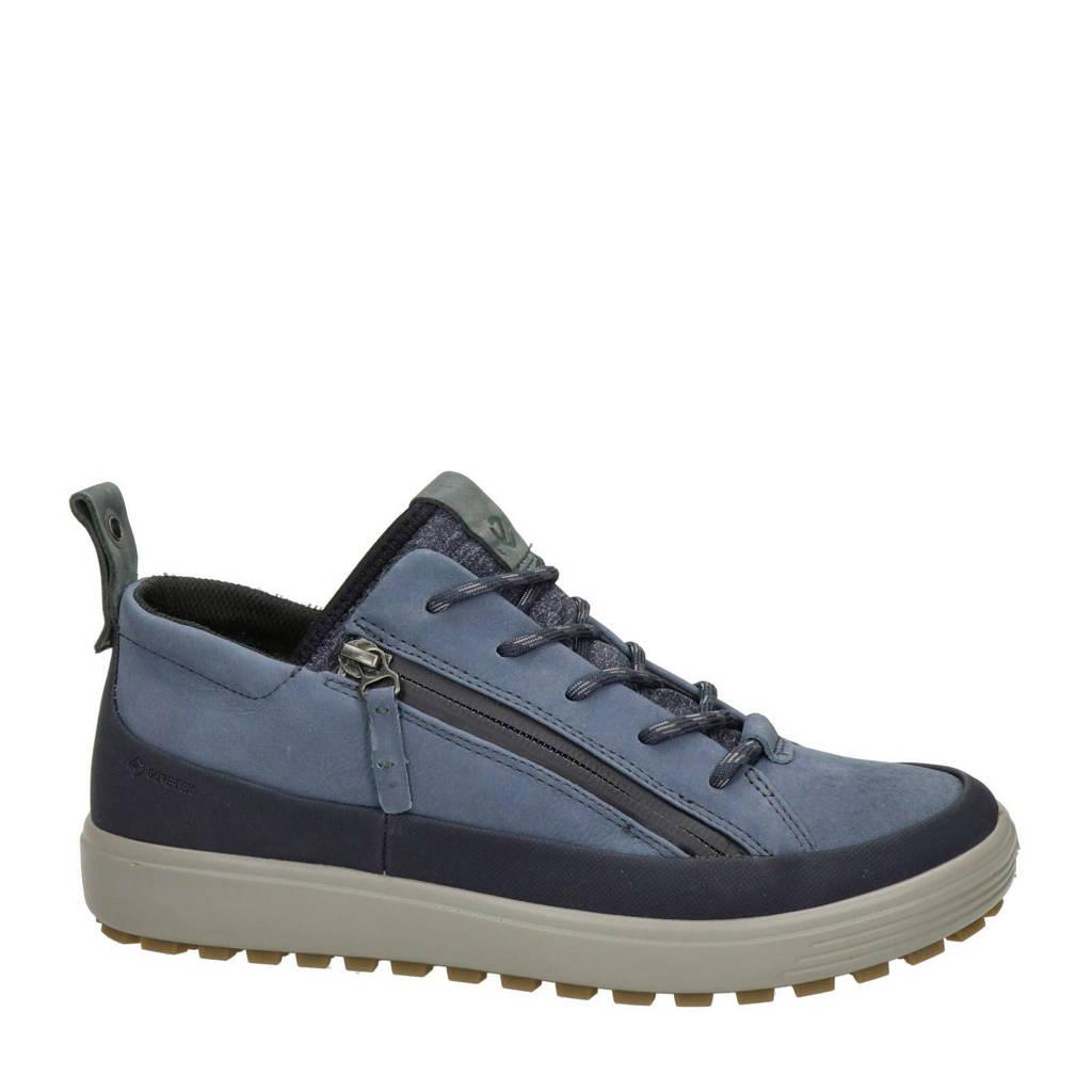 Ecco Soft 7 Tred comfort nubuck veterschoenen blauw, Blauw