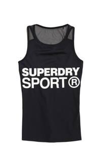 Superdry Sport sporttop zwart, Zwart