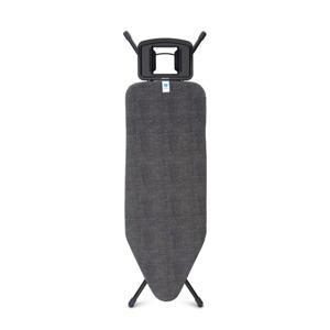 Strijkplank C met strijkijzerhouder 124x45 cm (zwart)