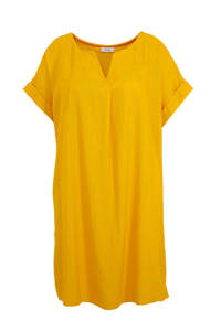 C&A XL Yessica jurk met linnen geel, Geel