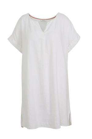 jurk met linnen wit