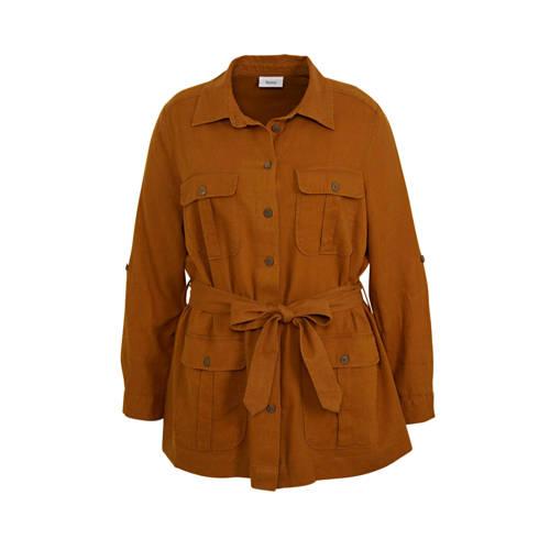 C&A XL Yessica jasje met linnen cognac