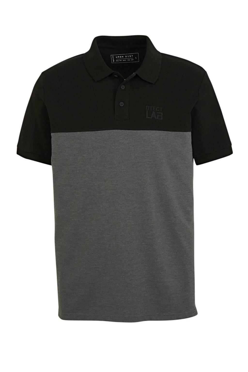 C&A Angelo Litrico regular fit polo zwart/grijs, Zwart/grijs