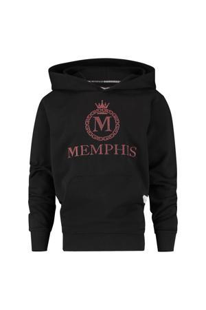 hoodie Nachler met logo zwart
